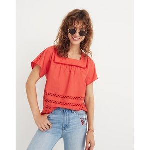 Madewell   NWT Eyelet Angelica Top